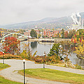 Paper Mill And Fall Colors In Rumford Maine by Keith Webber Jr