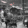 Parade Bisbee Arizona July 4th 1909 Color Added 2013 by David Lee Guss