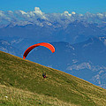 Paragliding In The Mountains by Jaroslav Frank