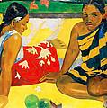 Parau Api. What News by Paul Gauguin