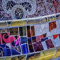 Parc Guell Trencadis by Joan Carroll