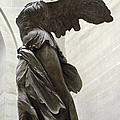 Paris Angel Louvre Museum- Winged Victory Of Samothrace by Kathy Fornal