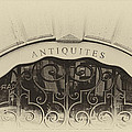 Paris Antique Store Sign by Tony Grider