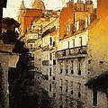 Paris Apartment View Of Montmartre by Marshall Thomas