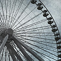 Paris Blue Ferris Wheel by Evie Carrier