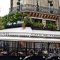 Paris Cafe De Flore - Paris Fine Art Cafe De Flore - Paris Famous Cafes And Street Cafe Scenes by Kathy Fornal