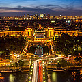 Paris City From The Eiffel Tower by Pierre Leclerc Photography