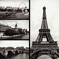 Paris Collage - Black And White by Carol Groenen
