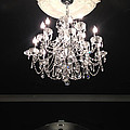 Paris Crystal Chandelier - Paris Black And White Chandelier - Sparkling Elegant Chandelier Opulence  by Kathy Fornal