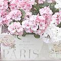 Paris Pink Flowers, Parisian Shabby Chic Paris Flower Box - Paris Floral Decor by Kathy Fornal