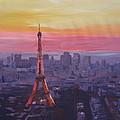 Paris Eiffel Tower At Dusk by M Bleichner