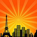 Paris France Downtown City Skyline by Jit Lim