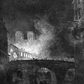 Paris, France Fire, 1773 by Granger