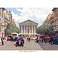 Paris France - The Rue Royal And The Madeleine - 1910 by John Madison