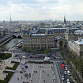 Paris From Notre Dam by Gary Lobdell