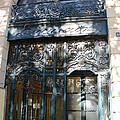 Paris Guerlain Storefront Boutique - Paris Guerlain Blue Door Art Nouveau Art Deco Door by Kathy Fornal