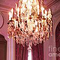Paris Hotel Regina Pink Mauve Crystal Chandelier Hotel Entrance Lobby Chandelier Art Deco by Kathy Fornal