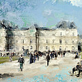 Paris In Autumn Luxembourg Gardens by Evie Carrier