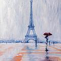 Paris In Rain by Kovacs Anna Brigitta