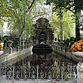 Paris Jardin Du Luxembourg Gardens Autumn Fall  - Medici Fountain Sculpture Autumn Fall Photographs by Kathy Fornal