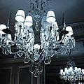 Paris Laduree Sparkling Crystal Chandelier - Laduree Chandelier Art by Kathy Fornal