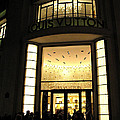 Paris Louis Vuitton Boutique Store Front - Paris Night Photo Louis Vuitton - Champs Elysees  by Kathy Fornal