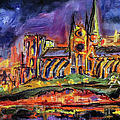 Paris Notre Dame Oil Sketch by Ginette Callaway