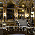 Paris Opera House Interior Romantic Staircase Balconies And Architecture  by Kathy Fornal