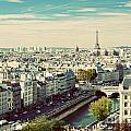 Paris Skyline France. Eiffel Tower by Michal Bednarek