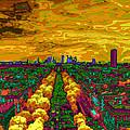 Paris Skyline Pop Art by Eti Reid