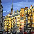Paris Street At Sunset by Elena Elisseeva