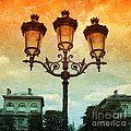Paris Street Lamps With Textures And Colors by Carol Groenen