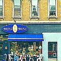 Paris Style French Bistro Art Sidewalk Cafe Terrace  Antique Shop C Spandau Montreal City Paintings by Carole Spandau