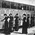 Paris Telephone Exchange, 1882 by Science Source