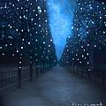 Paris Tuileries Trees - Blue Surreal Fantasy Sparkling Trees - Paris Tuileries Park by Kathy Fornal