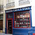 Paris Wine Shop Resto Cave A Vins - Paris Street Architecture Photography by Kathy Fornal