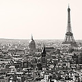 Paris With Eiffel Tower In Black And White  by Pierre Leclerc Photography