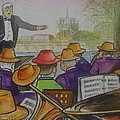 Parisian Hat Band Across From Notre Dame Cathedral by Frank Hunter