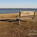 Park Bench At Sandy Point by Ben Schumin