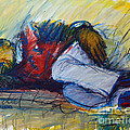 Park Bench Sleeper by Charles M Williams