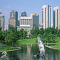 Park In The City, Petronas Twin Towers by Panoramic Images