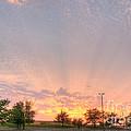 Parking Lot Sunset Spray by Deborah Smolinske