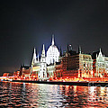 Parliament And The Danube by Elvis Vaughn