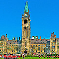 Parliament Building In Ottawa-on by Ruth Hager