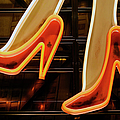 Part Of Neon Light Sign, Red High Heels by Digipub