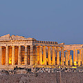 Parthenon In Acropolis Of Athens During Dusk Time by George Atsametakis