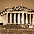 Parthenon In Sepia 3 by Douglas Barnett