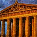 Parthenon On A Stormy Day by Dan Sproul