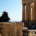Parthenon Pillars On Standby by Lorraine Devon Wilke