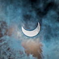 Partial Solar Eclipse In Cloud 1 Oct by Alan Dyer